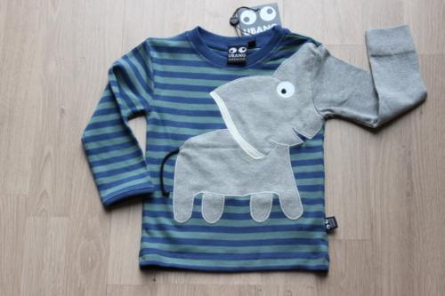 elephant tee blauw