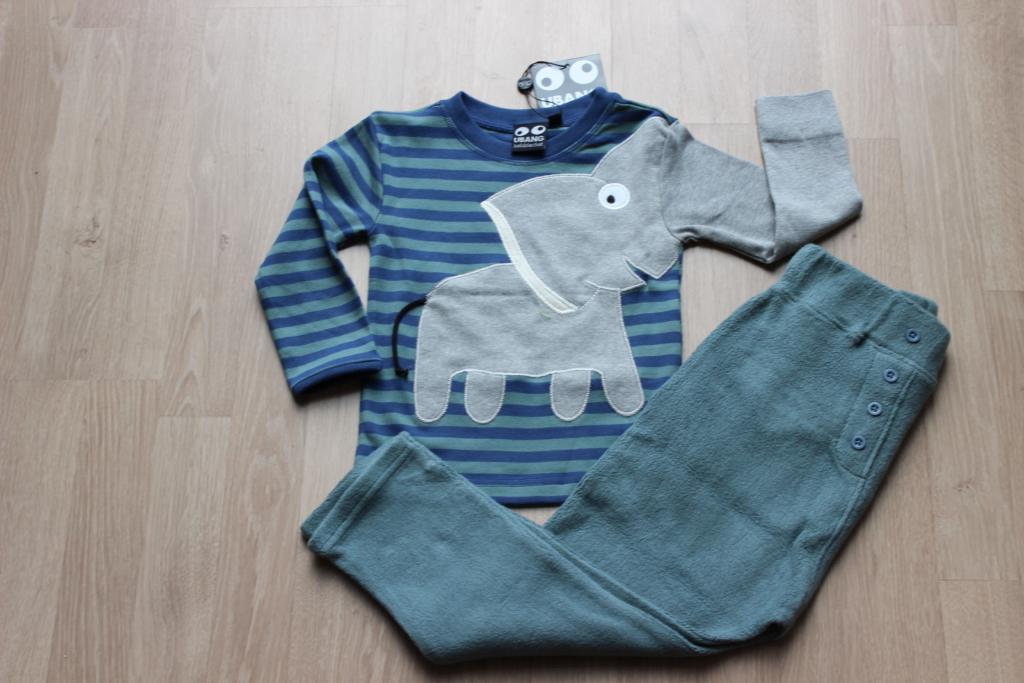 set 2 elephant blauw