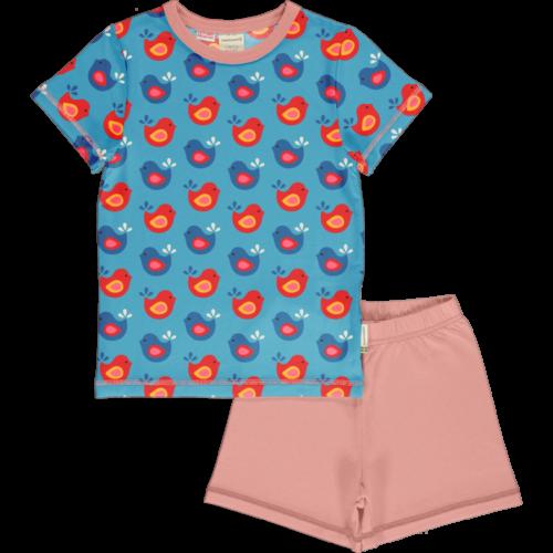 pyjama bright birds