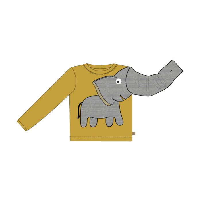 elephant tee geel