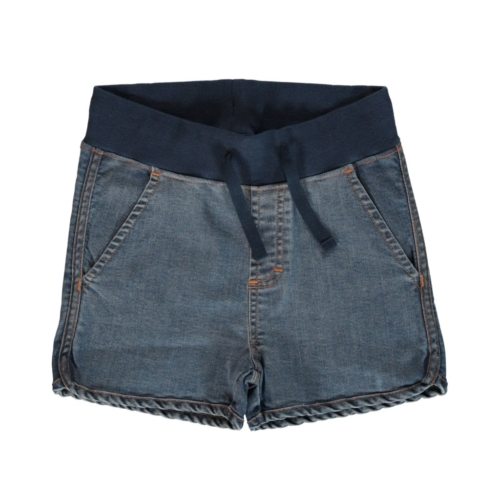 runner shorts denim