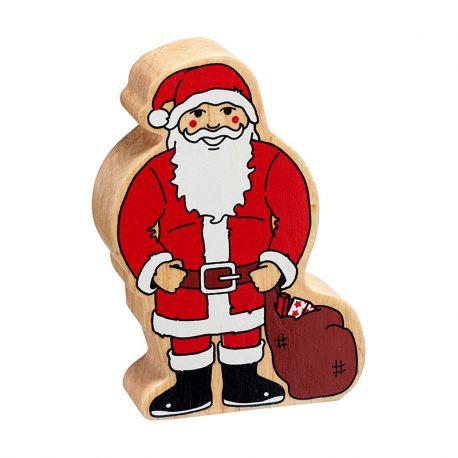 kerstman in hout