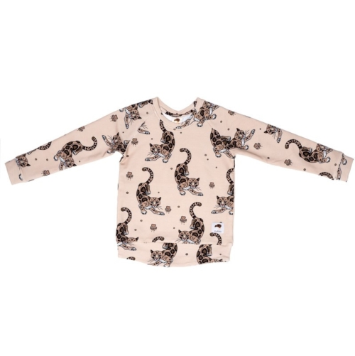 sweatshirt leopard beige